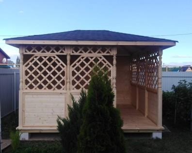 Беседки деревянные для дачи в Нижнем Новгороде заказать от производителя