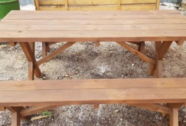 Комплект мебели №2 (2 лавки без спинок и стол)